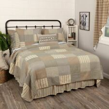 COUNTRY PRIMITIVE FARMHOUSE SAWYER MILL CHARCOAL QUILT COLLECTION VHC BRANDS