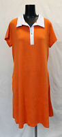 Ashley Stewart Women's Plus A-Line Color Block Dress CD4 Orange Size 18/20