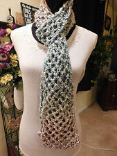 Handmade Crochet Scarf Very Soft & Warm, Multi-Colored