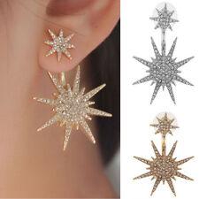 Fashion Women Rhinestone Star Ear Stud Crystal Dangle Earring