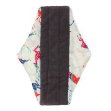 Tampon menstruel lavable en tissu de bambou Serviette hygiénique pour femmes M