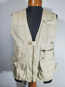 5.11 Tactical Series 80001 Hunting/Fishing Vest 511 Size Medium Beige Pre Owned