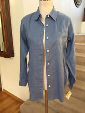 TELLURIDE CLOTHING CO. Women's~S Blue Linen Button Front  NWT