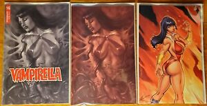 VAMPIRELLA #16 Ale Garza Virgin + PARRILLO RED TINT + B&W VARIANT 2020 NM