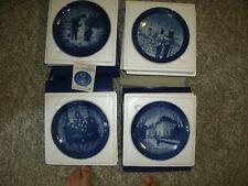 Royal Copenhagen Collector Plates - Snowman, Chrstmas Eve, Merry Xmas, the Queen