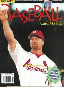 Beckett Baseball Card Monthly Magazine November 1998 #11 Mark McGwire Griffey Jr