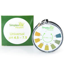 ALKALINE Ph Prova Strisce di carta al tornasole 4.5 - 7.5 per acqua Urina & Saliva 5m Rotolo