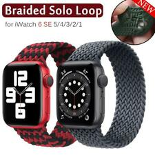 Nylon Braided Solo Loop Strap Band For Apple Watch Series SE 6 5 4 3 38/40/44 MM