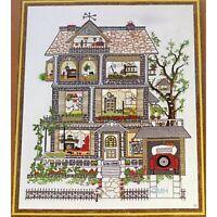 The HOUSE ON ELM STREET Vintage Crewel Kit Linda Gillum Retro Crewel Mid Century