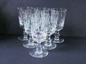 "EDINBURGH CRYSTAL APPIN PATTERN SET OF SIX 3⅞"" SHERRY GLASSES (Ref7544)"