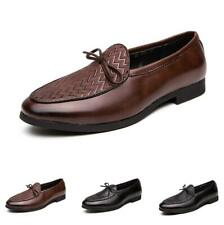 Mens Bowknot Slip on Business Work Nightclub Dress Formal Leisure Leather Shoes