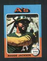 1975 Topps Mini #300 Reggie Jackson NM/NM+ Athletics 123649