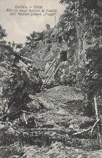 * GORIZIA GORZ - Rifugio degli italiani ai fianchi dell'Isonzo presso Fogar WWI