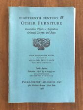 18TH CENTURY & OTHER FURNITURE April 27 1968 Parke Bernet Auction Catalog Prices