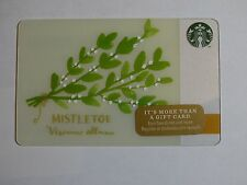 2014 - Mistletoe - Holiday Issue Starbucks Card - New & Never Swiped