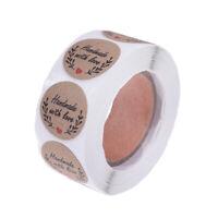 500x/roll Round Kraft Handmade Stickers Scrapbooking For Package Adhesive YK