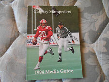 1984 CALGARY STAMPEDERS MEDIA GUIDE Yearbook DOUG FLUTIE Boston College CFL AD