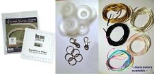 Kumihimo Braiding Starter Kit  Square Disc, Bobbins Cord, Findings, Instructions