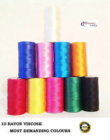 NEW 10 x Spools Sewing Machine Strong Embroidery Threads BROTHER,JANOME, All