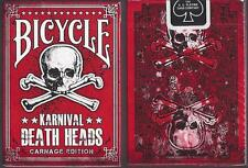 1 DECK Karnival Death Heads Carnage (NON-plastic) playing cards