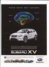 SUBARU XV  Pub de Magazine .Magazine advertisement. 2012