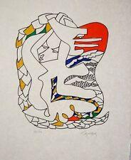 """""""Quetzalcoalt """" 1958, lithographie de LAPICQUE Charles"""