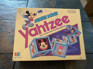 Mickey Mouse Yahtzee 1988 read Disney Milton Bradley Vintage Board Game COMPLETE