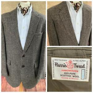 Harris Tweed Country Jacket Blazer 44S - Brown - Superb Colour Weave - A56