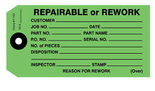IT1003 Repairable or Rework Tags - Dark green  Pack of 100