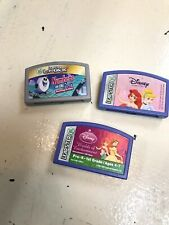Lot of 3 Leapfrog Leapster Learning Game Cartridges Math ,Disney Princess