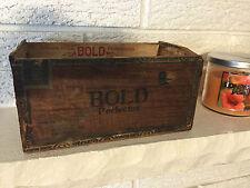 "Rare Bobrow Brothers ""Bold"" Perfectos FlorFina Cigar Box Philadelphia PA w stamp"