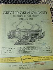 1953 OKLAHOMA CITY Telephone Directory Phone Book Hard Cover SKIRVIN HOTEL