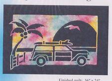 Gone Surfing - 2 fabric applique quilt PATTERN - Pacific Rim Quilt Company