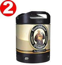 2 x Franziskaner Weissbier Perfect Draft 6 Liter Fass  5,0 % vol. 4,66€/L