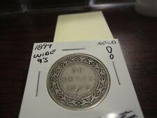 1899 - Wide 9's - NFLD - Newfoundland - Canada half dollar - Silver - 50 cent