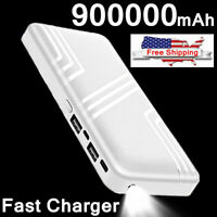 Quick Charger 900000mAh Power Bank 2USB LED Portable External Battery Charger