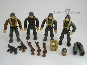 Call of Duty COD Mega Bloks Set #CPC67 Legacy Heroes WWII Lot of 4x Figures Guns