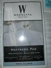 Wamsutta Dobby Stripe Twin XL Mattress Pad in White