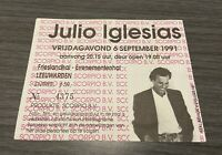 julio iglesias Concert Ticket 1991