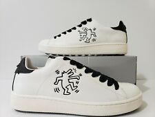 COACH Leather x Keith Haring C101 Low Top Sneaker Black/White Men's US Size 10