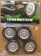 MUSTANG II COBRA II WHEELS AND TIRES GREENLIGHT 1:18 SCALE PARTS FOR MODEL CARS