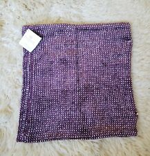 NEW Pottery Barn Tri Colored Chenille Pillow Cover Mulberry 18x18 inches Throw
