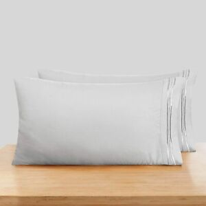 Nestl Soft Pillow Case Set of 2 - Double Brushed Microfiber Cool Pillow Covers -