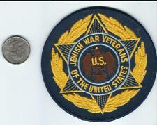 "JEWISH WAR VETERANS OF THE UNITED STATES PATCH 3 3/4"" DIAMETER"