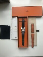 Hermes H Watch & 2 Bands (Black Wristband & Orange Wristband)