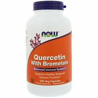 Now Foods QUERCETIN with Bromelain, 240 caps IMMUNE Anti-Inflammatory STOP COLDS