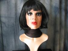 Latexmaske MARILYN +WIMPERN +schw. PERÜCKE - Real. Frau Maske Latex Crossdresser