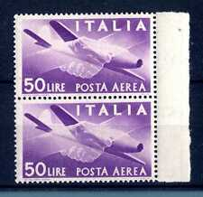 """ITALIA REP. - PA - 1947 - Serie """"Democratica"""" - Filigr. Ruota  - 50 L. - X117"""