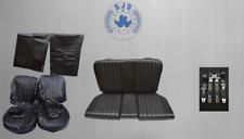 Mercedes SL R/W107  Sitzbezüge + Rückbank + Sicherheitsgurte, schwarz Paket !
