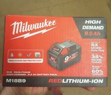 Genuine Milwaukee M18B9 9.0Ah 18V Li-Ion High Demand Battery